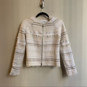 Club Monaco Cream Tweed Jacket